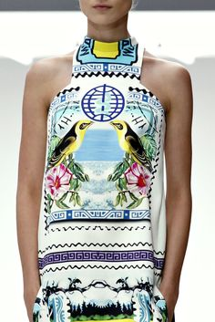 Stamp details at Mary Katrantzou