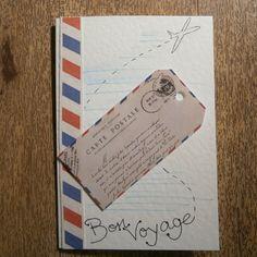 Bon Voyage card by onelittlepug on Etsy