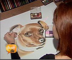 Una mujer utiliza las sombras de ojos para hacer obras de arte #arte_con_maquillaje #art_with_makeup #makeup #drawings_using_makeup #dibujos_con_maquillaje #artes_con_maquillaje #Roxana_Barahona_Oliva #roxanaboarts #roxanabo_arts