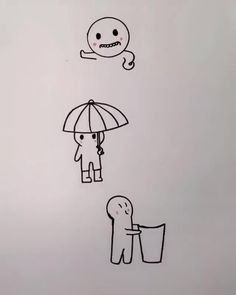 'Somewhere over the rainbow' _ ) Cute Little Drawings, Cute Easy Drawings, Art Drawings Sketches Simple, Doodle Drawings, Pencil Art Drawings, Drawing Ideas, Easy Doodle Art, Doodle Art Designs, Easy Doodles