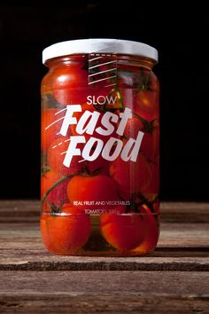 Slow Fast Food Packaging. Very simple, minimalist design but works perfectly for the product.