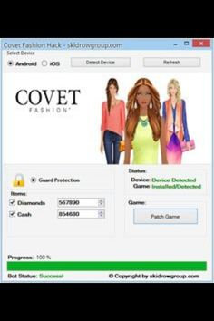 Covet Fashion Hack Generators can grant game players diamonds in the   game within minutes. This is not like the typical Hack generators that   requests download. Covet Fashion (Hacks|Hack Cheats|Cheats} are safe and   can be adapted on all Android/iOS devices. Covet Fashion Cheats, Covet Fashion Hack, Covet Fashion Games, Fashion Hacks, Cheating, Generators, Hack Tool, Ios, Diamonds
