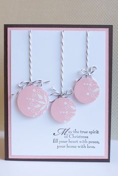 Life in my craft room: Christmas Ornaments with Circle Punches