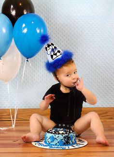 Boys Birthday Hat Black Diamond...First Birthday by AllRibbonedOut, $16.00