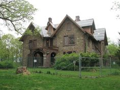 The Point Tucked away on the Mills property is the Point, an abandoned mansion designed by Calvert Vaux.  It sits literally in the middle of the  woods, and the only way to get here is by walking down a couple of dirt roads.