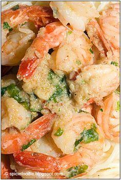 Spicie Foodie ™ » Camarones Al Mojo de Ajo, Mexican Garlic Shrimp