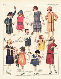 Resultado de imagem para clothes 1924 kids