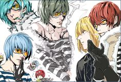 Tags: Death Note, Mello, Matt, Mihael Keehl, Mail Jeevas, Matt with blue hair, yay!, mattxmello (?) Evil World, Death Note, In Your Honor, Manga Anime, Blue Hair, House, Pictures, Fanart, Tags