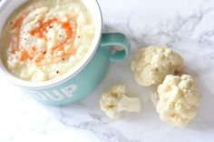 Dairy-free creamy cauliflower potato soup that is Whole 30 friendly. Makes the perfect dinner on a chilly night! Cauliflower Potato Soup, Creamy Cauliflower, Soup Recipes, Dinner Recipes, Whole 30 Lunch, Paleo Whole 30, Food Inspiration, Dairy Free, Nom Nom