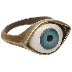 Lovers2009 Punk Style Retro Exaggeration Blue Eye Ring
