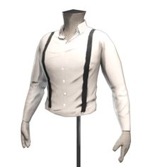 Gruesome Wedding Guest's Shirt and Suspenders