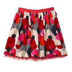 Tulle Floral Flounce Skirt for girls, Gap.
