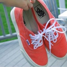check out 0082f 002a1 Washed out orange Vans