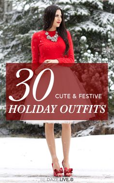 30 Cute & Festive Holiday Outfits For Every Kind Of Situation | Be Daze Live - holiday outfits - fall outfits - winter outfits - party outfits - office party