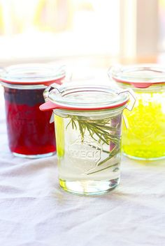 Infused Simple Syrups from Perpetually Chic on Epicurious Community Table