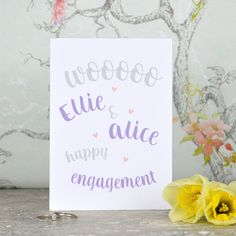 same sex engagement cards personalised engagement cards messages texting text posts - Engagement Cards