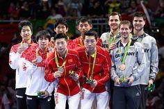 Medal - Mizutani, Jun, Yoshimura, Maharu, Niwa, Koki, Ma, Long, Xu, Xin, Zhang, Jike, Boll, Timo, Ovtcharov, Dimitrij, Steger, Bastian - Table Tennis - Japan, China, Germany - Men's Team - Men's Team Gold Medal Team Match