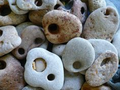 Hag stones, also known as Holey Stones or Witch Stones, are stones that have a naturally occurring hole *