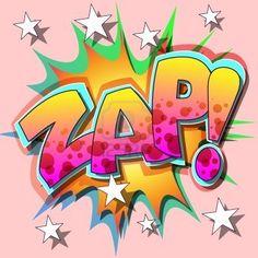 Illustration of A Zap Comic Book Illustration vector art, clipart and stock vectors. Graffiti Art, Graffiti Designs, Graffiti Lettering Alphabet, Web Comic, Comic Art, Comic Books, Zap Comics, Marvel Comics, Pop Art