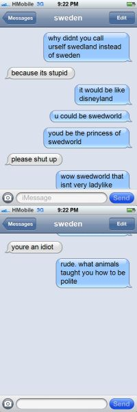 WHY THE HECK DID HE NOT CALL HIMSELF THAT, I WANNA SEE SWEDEN IN A PRETTY LITTLE PRINCESS DRESS NOW!