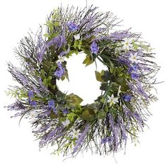Lavender Wildflower Wreath