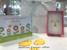 Treat your little ones this Easter with our chick necklace and earrings from our Miss Grace range! We currently have a special offer get the earrings and necklace for 25 rather than 30!