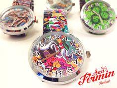 ¿Vas a ir a #SanFermines ? En #Aralart tienes un detalle para ir bien conjuntada, Reloj de pulsera 🔝⚪️🔴#SanFermin.🔴⚪️🔝 #Clock #Wristwatch #RelojPulsera #Pulsera #SanFermin2016 #Party #Fiesta #VivaSanFermin #GoraSanFermin