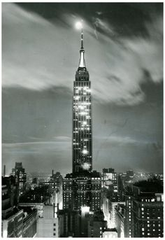 New York City Empire State Building at Night Archival Photo Poster Print Print at AllPosters.com