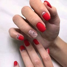 The advantage of the gel is that it allows you to enjoy your French manicure for a long time. There are four different ways to make a French manicure on gel nails. Trendy Nail Art, New Nail Art, Stylish Nails, Easy Nail Art, Trendy Hair, Minimalist Nails, Red Nails, Hair And Nails, Fall Nails
