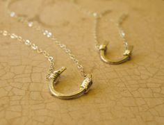 Best Friends Necklaces - Two Sterling Silver Horseshoe Necklaces on Etsy, $75.00