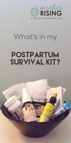 These are great ideas for a postpartum survival kit, especially for a natural postpartum recovery and mama.