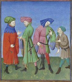Publius Terencius Afer, Comoediae [comédies de Térence] ca. 1411;  Bibliothèque de l'Arsenal, Ms-664 réserve, 126r