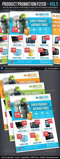 Product Promotion Flyer | Volume 5 — Photoshop PSD #product promotion #promotion • Available here → https://graphicriver.net/item/product-promotion-flyer-volume-5/6155670?ref=pxcr