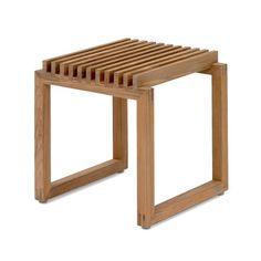 Skagerak - Cutter Holz Hocker, Teak Teak Natur T:40 H:43 B:40