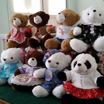 Charity Bears dressed by Anything Sews NG for Salvation Army