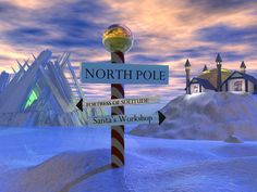 Yes, there really is a North Pole! North Pole Santa's Workshop, Northern Exposure, Christmas Backdrops, Santas Workshop, Travel List, Holiday Photos, Winter Time, Wonderful Time, Places Ive Been