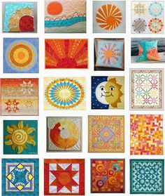 Free patterns:  Sun and solstice quilts.  Updated March 18, 2015