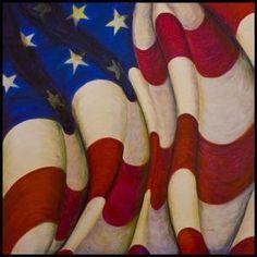 American flag painting (acrylic on canvass)  jwtarara.com