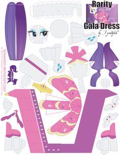 Rarity Gala Dress Printout by ~FyreWytch on deviantART