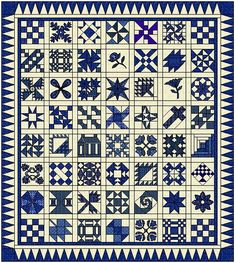 This sampler quilt won 2 State Fairs in the early 1900's. Looks nice and worth trying. Pattern blocks are $5.99 for each set of 4.