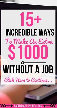 Are you wondering how you can make money online without a job? Wonder no more! See these 15 incredible ways that you can use to earn an extra 1000 dollars every month| how to make money online without a job| how to make money without a job at home| how to make money without a job ideas #takesurveys #watchvideos
