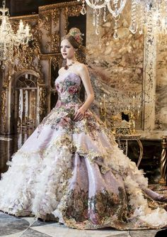 Wedding Gown Dresses out of a Fairy Tale Wedding Gown Dresses out of a Fairy Tale Evening Dresses, Prom Dresses, Formal Dresses, Bridesmaid Dresses, Dresses For Sale, Fantasy Dress, Ball Gowns Fantasy, Baroque Fashion, Fashion Glamour