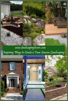 Landscaping plays an absolutely critical role in influencing the look and feel of your family's home. There is nothing more impressive than a home with fantastic landscaping. You can learn the best ways to landscape your home by carefully reading this article.  *** Want additional info? Click on the image. Landscaping Around House, Four Seasons, Plays, Improve Yourself, Pergola, Backyard, Outdoor Structures, Landscape, Reading
