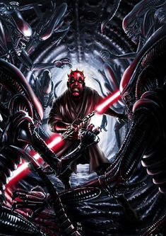 In a perfect world, a Darth Vader vs. Aliens movie would be followed up by a Darth Maul vs. Aliens movie.