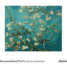 Blossoming Almond Tree Vintage Floral Van Gogh Poster (€12) ❤ liked on Polyvore featuring home, home decor, wall art, flower poster, floral wall art, framed posters, flower wall art and framed flower wall art
