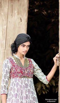 Shalini James' Mantra: Indian by Choice Collection with kantha embroidery, Jaipur block prints, Ikat Kalamkari prints - http://www.mantraonline.net/