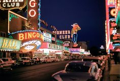 Downtown Las Vegas, August 1959. Photo by Woodrow Humphries.