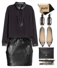 """""""Saturday night"""" by grozdana-v ❤ liked on Polyvore featuring Pierre Darré, Lollipop Designs, Alexander Wang, Bobbi Brown Cosmetics, Balmain, H&M and Lisa Freede"""