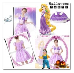 """Hallowmas Disney Costume Tangled Rapunzel Princess Dress"" by evermissjody ❤ liked on Polyvore featuring Disney"