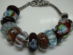 Brown and blue, a classic and lovely combination #trollbeads